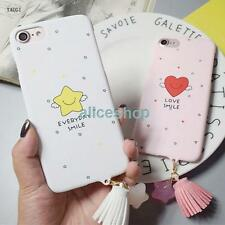For iPhone 7 7 Plus 6 6S Plus Cute Candy Smile Love Stars Tassel Hard Case Cover