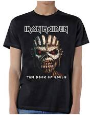 Men's OFFICIAL Iron Maiden Band T-Shirt Black Book Of Souls Eddie Close Up S-2X