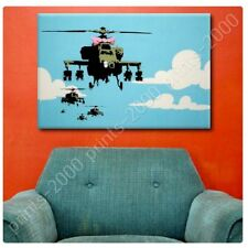 Alonline Art - POSTER Or STICKER Decals Vinyl Helicopter Apache Banksy Posters