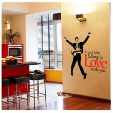 Alonline Art - STICKER Decals Vinyl Elvis Presley I Cant Help Falling In Love