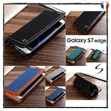 Etui coque housse porte carte Wallet card holder case Samsung Galaxy S7 Edge