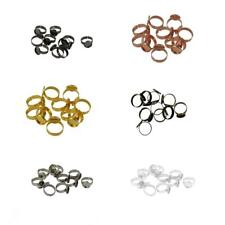 10pcs Cabochon Settings Adjustable Ring Pad Bases Blanks Jewelry Findings 12mm