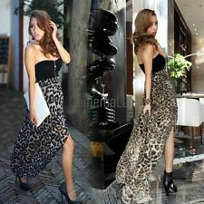 New Women Sexy Chiffon Bustier Party Maxi Cocktail Evening Club Dress LM01