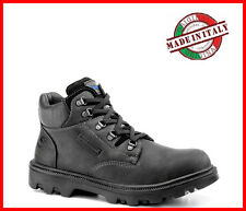 SAFETY SHOES Steel Toe Cap MENS GROUNDWORK SAFETY STEEL TOE CAP BOOTS WORK TRAIN