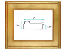 """Classic Plein Air Picture Frames Hand Applied Gold Leaf 3"""" wide & 5"""" Wide"""