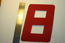 Red Sail Numbers 0-9 sticky sailcloth 205mm height dinghy opti optimist