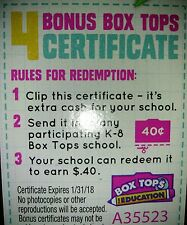 1000 Box Tops For Education -BTFE- No Expired Tops 01/31/18 neatly trimmed