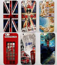 London  Big Ben Telephone Box flag hard clear Covers Cases for Apple iPhone 5 6