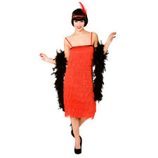 Ladies Jazzy Flapper Red Fancy Dress Costume for 20s 30s Gangsters Moll Cosplay