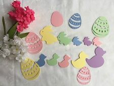 Easter Bunnies, Ducks and Egges Paper CUT OUTS/EMBELLISHMENTS - 5 mixed colors