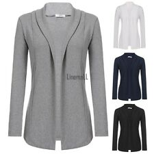 New Women Casual Long Sleeve Solid Open Stitch Knit Cardigan Coat LM01