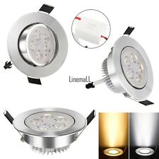 15W 85-265V Warm White Cool White Silver LED Ceiling Recessed Down Light LM01