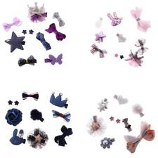 Lovely Boutique Hair Bow Mixed Style Cute Toddler Hair Clips Set Baby Girl