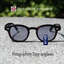 Vintage Johnny Depp sunglasses mens tortoise frame purple blue green grey lenses