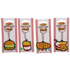 Novelty Comfort Food Keyrings Choice Of Pizza Burger Fries Or A Meal