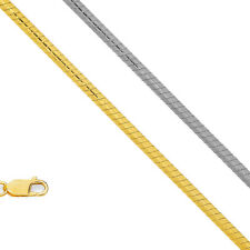 """14k Solid Gold 0.7mm Round Snake Chain Necklace 16"""" 18"""" 20"""" 24"""""""