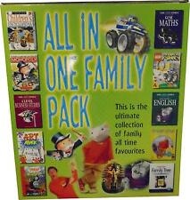 USED Family Game Pack All in One 27 PC ROM Games and Software Box Set (T.H)
