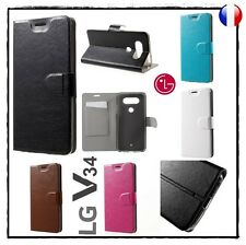 Etui porte carte coque housse Wallet Card Slot case stand cover LG V34