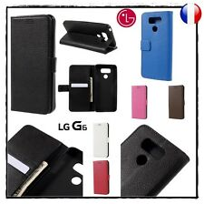 Etui porte carte coque housse Wallet Card Slot Leather case stand cover LG G6