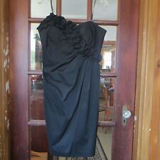 """BLACK STRAPLESS EVENING SPECIAL OCCASION DRESS BY """"MAGGY LONDON"""" S~14"""