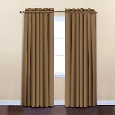 ALEKO Home Decor 52x84 Wheat Solid Thermal Insulated Blackout Curtain Panel Set