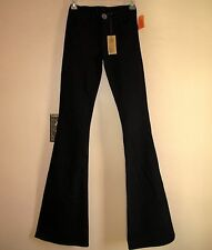 $198 J Brand Sylvia High-Rise Flare Trousers Strtch Jeans Black 23 Run Small NWT