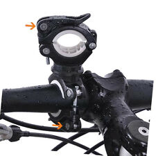 360 Degree Cycling Bicycle Bike LED Flashlight Front Lamp Mount Holder Clip