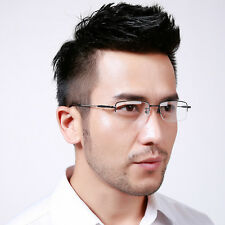 Half Rimless Reading Clear Glasses Frame Optical Eyeglasses Spectacles Eyewear