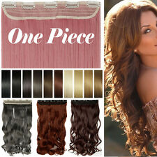 Half Full Head Layered Long Soft One PC Clip in Hair Extension Hairpiece US t23h