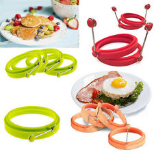Kitchen Omelette Pancake Poach Silicone Mould Ring Fried Egg Shaper Baking Tools