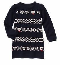 NWT Gymboree Holiday Shop Fair Isle Sweater Dress Bear Snowflake 5 7 8 Girls