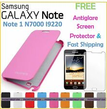 Samsung Galaxy Note N7000 I9200 Flip Cover Case FREE Screen Protector Shipping