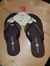 "Lindsay Phillips ""Brown"" LULU switchflops sizes 5,6,7,8,10"