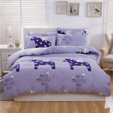 Duvet Doona Quilt Cover Set Queen/King Size Animal Bed Flat Fitted Sheet Set