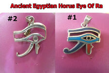 Ancient Egyptian Horus Eye Of Ra Pendant Charms Jewelry Sterling Silver Necklace
