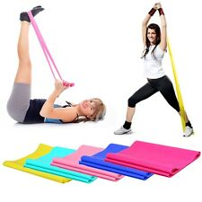 Elastic Pilates Yoga Resistance Fitness Exercise Band Stretch Rubber 1 Gym New