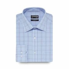 The Collection Mens Blue Checked Regular Fit Shirt From Debenhams