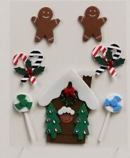 MIC Pack of Christmas Candy and Gingerbread Embellishments