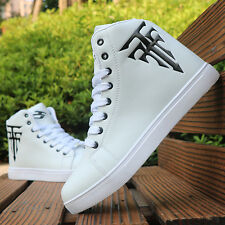 2017 Spring Men's Fashion Sneakers High Top Hip Hop board shoes Lace Up Dancing