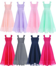 Flower Girl Princess Dress Kid Party Wedding Pageant Bridesmaid Chiffon Dresses