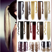 100% New Ponytail Hair Wrap on/around Clip in Hair Extensions Pony Tail Ombre t4