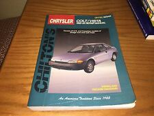 Chilton Chrysler Colt/Vista 1990-1993 Repair Manual 8418 U.S. & Canadian models