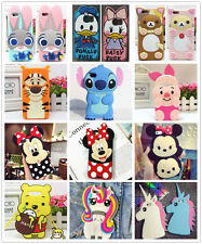 3D Disney Cartoon Characters Soft Silicone Rubber Back Cover For Samsung Galaxy