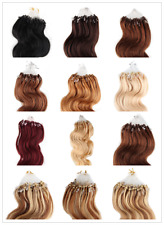 5A Fashion Remy 100% Real Human Hair Extensions Body wave Loop Micro Ring 50g