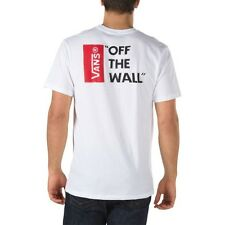 Vans Off The Wall T-Shirt white/ Black Size S-XL T-Shirt white
