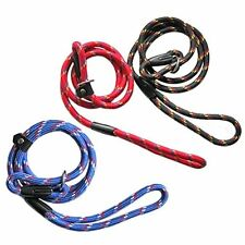 Adjustable Nylon Slip Lead Leash Rope Dog Whisperer Cesar Millan Train Collar!!!