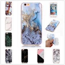 Ultra Thin Granite Marble Grain Strips Clear Soft TPU Case Cover For Cellphones