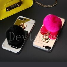 Rabbit Soft TPU Silicone Gel Fur Ball Pom Pom Case Cover for Apple iPhone 7 4.7