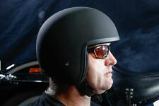 Helmet Black Low Fitting New Style Approved Small Shell Fiberglass Motorcycle