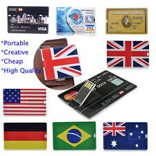 Portable Credit Card USB Flash Drive Memory Stick USB2.0 Pen Drive Flash Disk